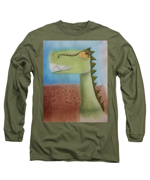 Dinoart Raptor Long Sleeve T-Shirt by Joshua Maddison