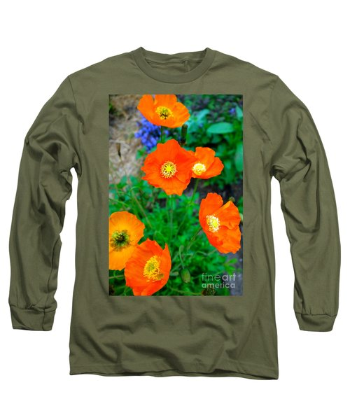 Pretty In Orange Long Sleeve T-Shirt by Jacqueline Athmann