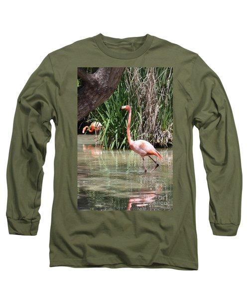 Pretty In Pink Long Sleeve T-Shirt by John Telfer