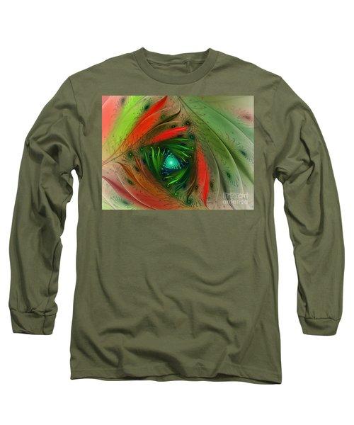 Pretty Wrapped Spiral-fractal Design Long Sleeve T-Shirt