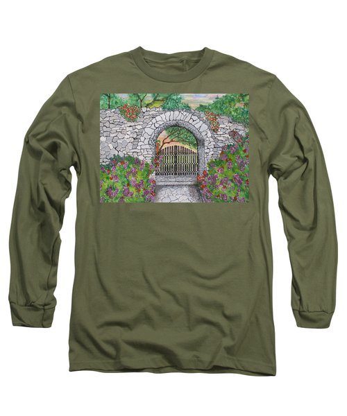 Private Garden At Sunset Long Sleeve T-Shirt
