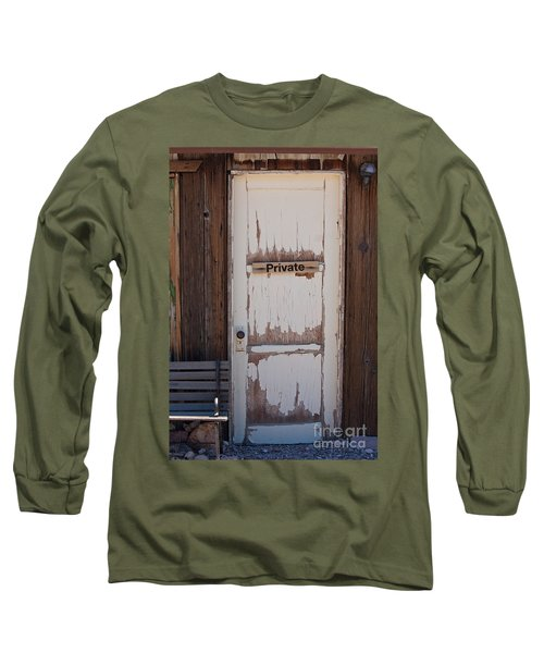 Long Sleeve T-Shirt featuring the photograph Private by Gunter Nezhoda