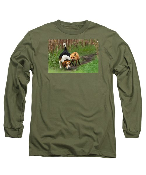 Probably The World's Worst Hunting Dog Long Sleeve T-Shirt by Mircea Costina Photography