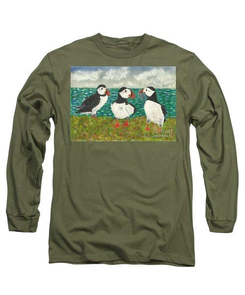 Puffin Island Long Sleeve T-Shirt by John Williams