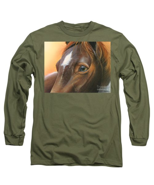 Long Sleeve T-Shirt featuring the painting Pure Grace by Mike Brown