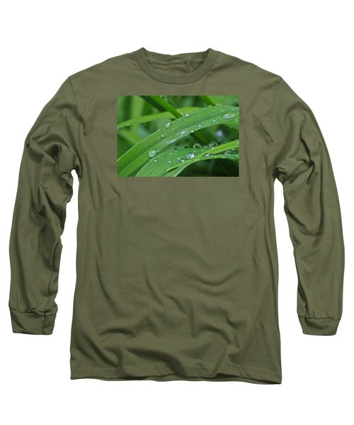 Pure Green Long Sleeve T-Shirt by Julie Andel
