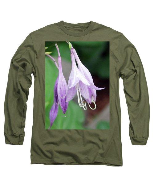 Purple And White Fuchsia Long Sleeve T-Shirt