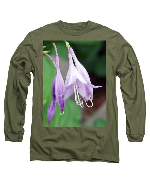 Purple And White Fuchsia Long Sleeve T-Shirt