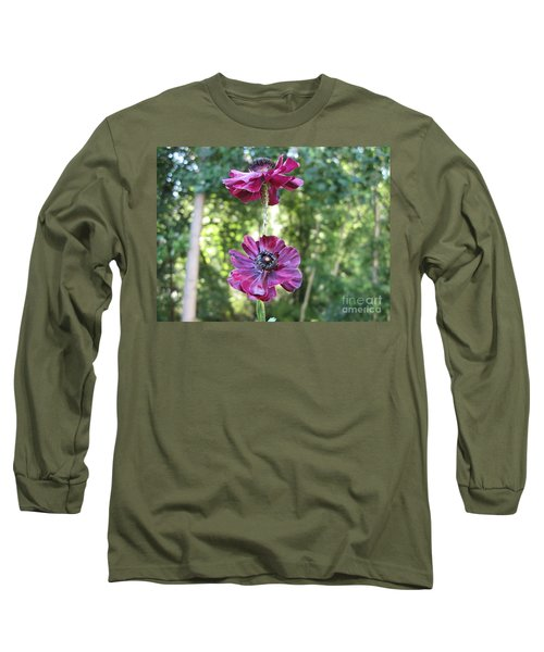 Long Sleeve T-Shirt featuring the photograph Purple Flowers by HEVi FineArt