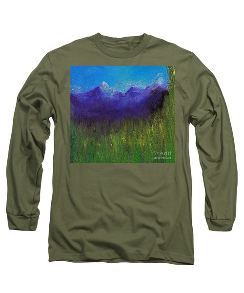 Purple Mountains By Jrr Long Sleeve T-Shirt
