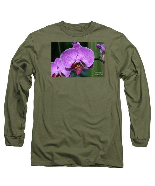 Purple Phalaenopsis Orchids Long Sleeve T-Shirt