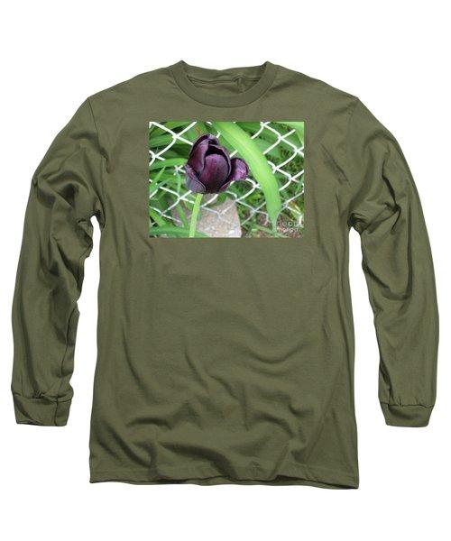 Purple Tulip Long Sleeve T-Shirt