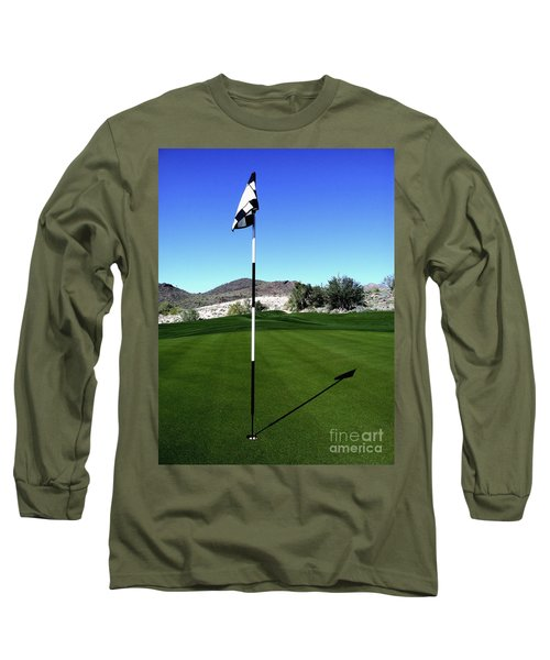 Putting Green And Flag On Golf Course Long Sleeve T-Shirt