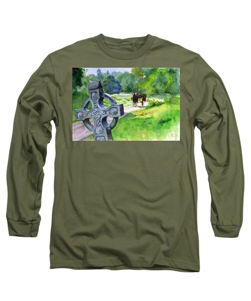 Quiet Man Watercolor 2 Long Sleeve T-Shirt by John D Benson