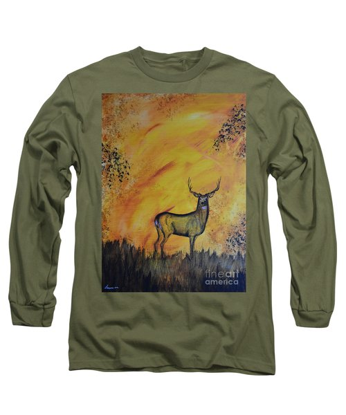 Quiet Time3 Long Sleeve T-Shirt by Laurianna Taylor