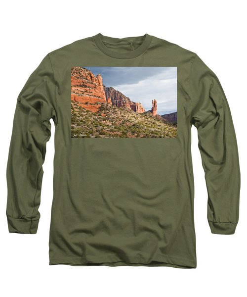 Rabbit Ears Spire At Sunset Long Sleeve T-Shirt by Jeff Goulden
