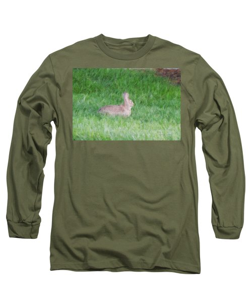 Rabbit In The Grass Long Sleeve T-Shirt