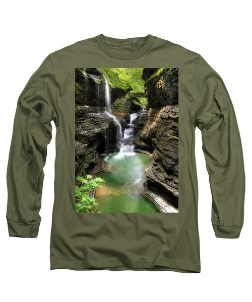 Rainbow Falls Long Sleeve T-Shirt by Lori Deiter
