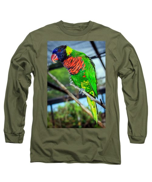 Long Sleeve T-Shirt featuring the photograph Rainbow Lory by Sennie Pierson