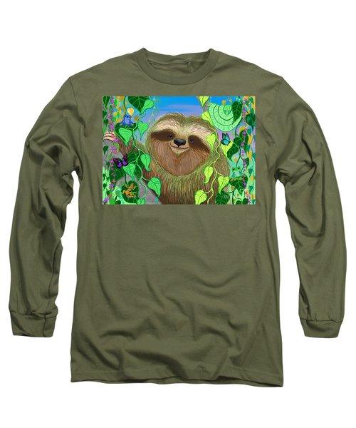 Rain Forest Sloth Long Sleeve T-Shirt