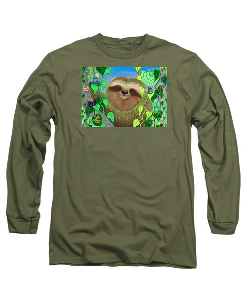Rainforest Sloth Long Sleeve T-Shirt