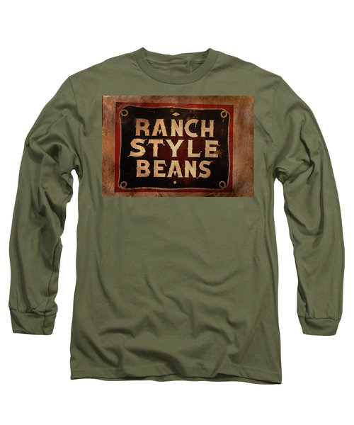 Long Sleeve T-Shirt featuring the photograph Ranch Style Beans by Toni Hopper