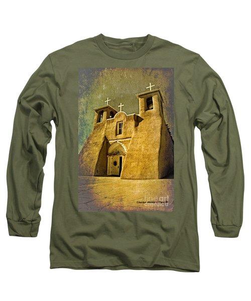 Ranchos Church In Old Gold Long Sleeve T-Shirt