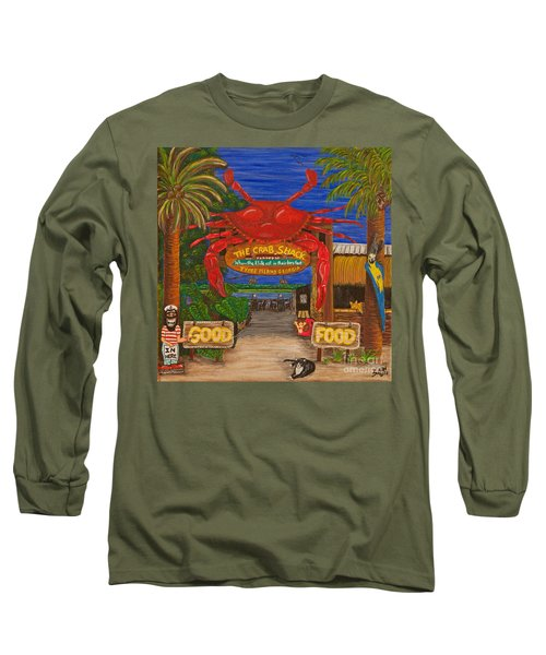 Ready For The Day At The Crab Shack Long Sleeve T-Shirt