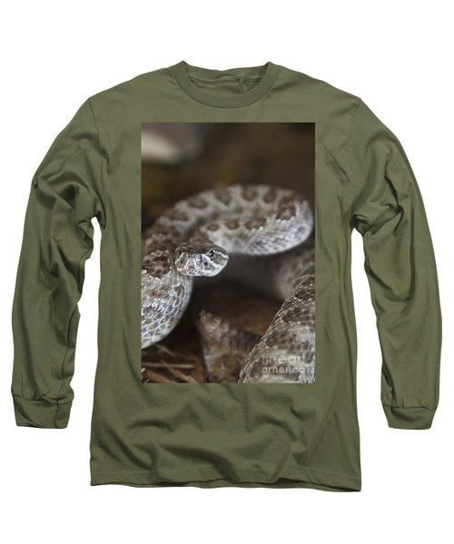A Rattlesnake Thats Ready To Strike Long Sleeve T-Shirt