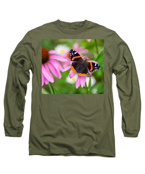 Red Admiral Butterfly Long Sleeve T-Shirt by Patti Deters
