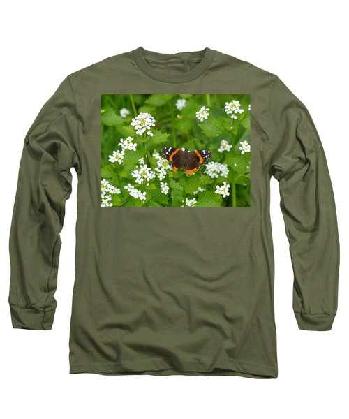 Long Sleeve T-Shirt featuring the photograph Red Admirals by Lingfai Leung