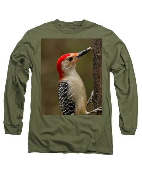 Long Sleeve T-Shirt featuring the photograph Red-bellied Woodpecker by Robert L Jackson