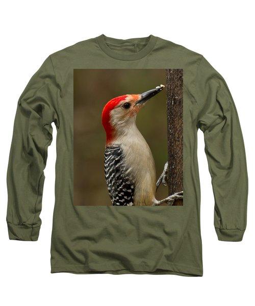 Red-bellied Woodpecker Long Sleeve T-Shirt by Robert L Jackson