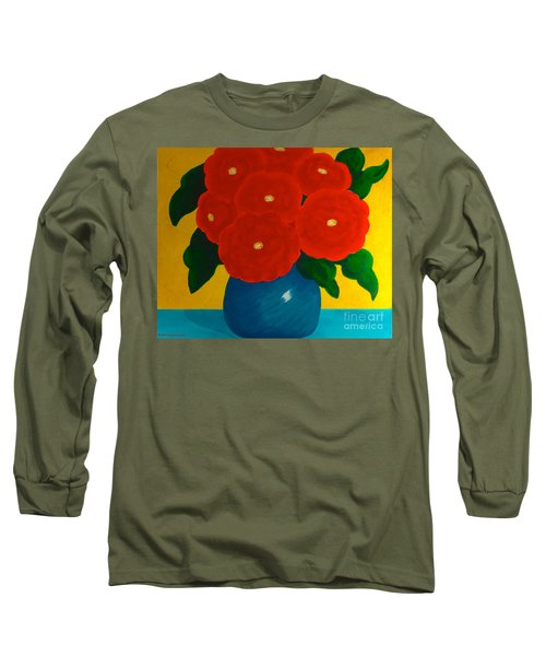 Long Sleeve T-Shirt featuring the painting Red Bouquet by Anita Lewis