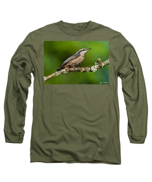 Red Breasted Nuthatch In A Tree Long Sleeve T-Shirt