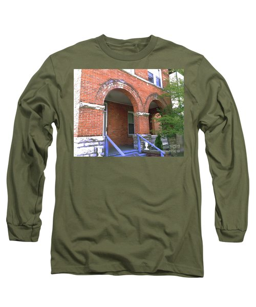 Long Sleeve T-Shirt featuring the photograph Red Brick Archway by Becky Lupe
