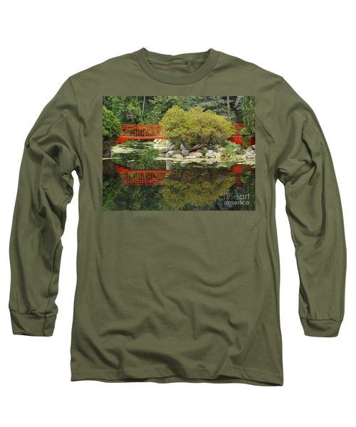 Red Bridge Close Reflection Long Sleeve T-Shirt