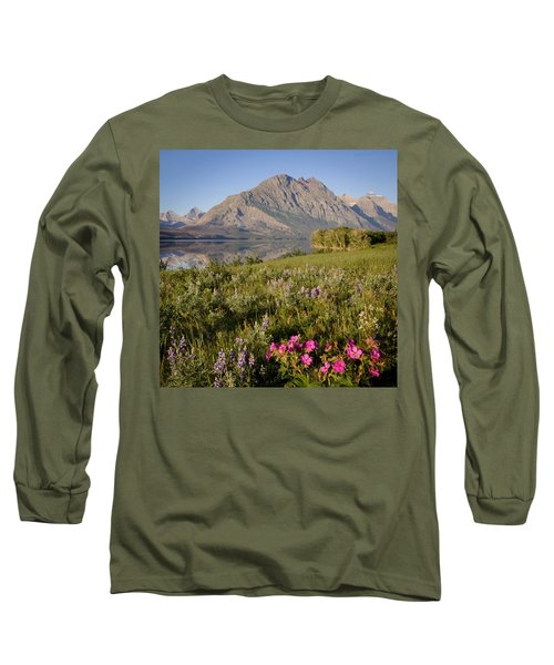 Long Sleeve T-Shirt featuring the photograph Red Eagle Mountain by Jack Bell