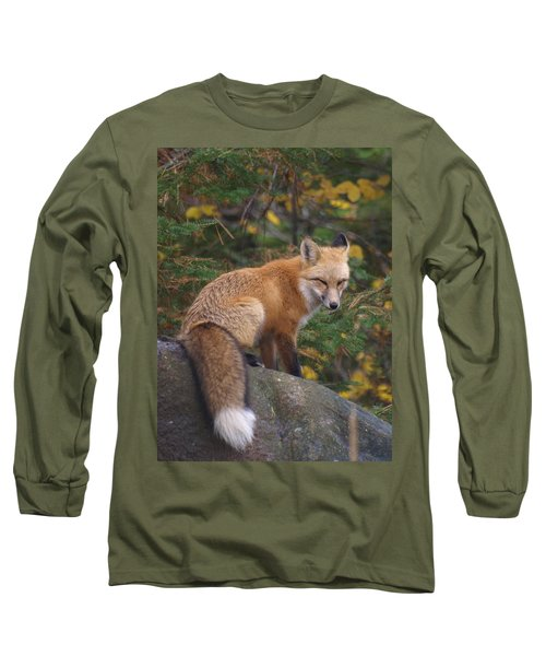 Long Sleeve T-Shirt featuring the photograph Red Fox by James Peterson