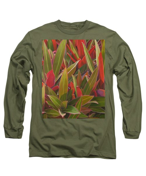 Red Green And Purple Long Sleeve T-Shirt