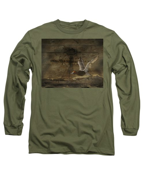 Red Head Duck Old Box Long Sleeve T-Shirt