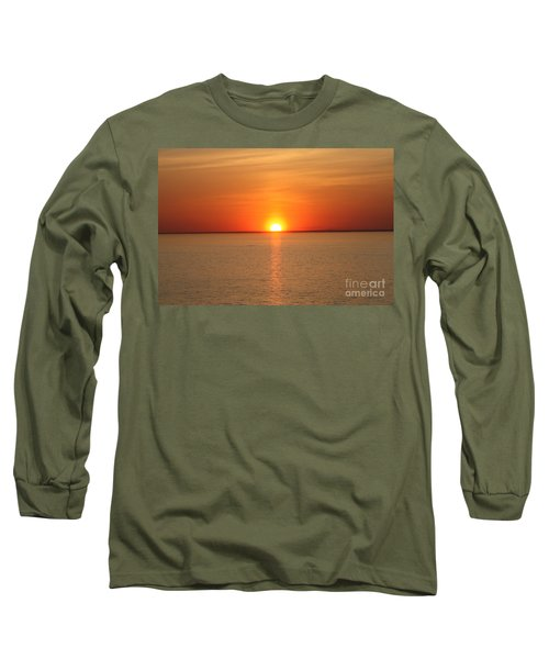 Long Sleeve T-Shirt featuring the photograph Red-hot Sunset by John Telfer