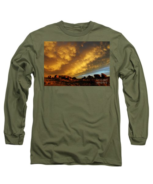 Long Sleeve T-Shirt featuring the photograph Red Rock Coulee Sunset by Vivian Christopher