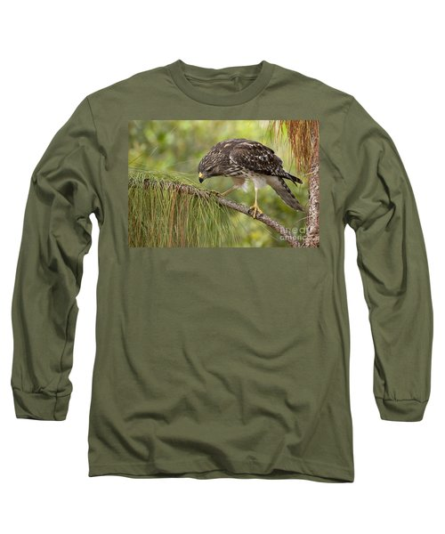 Red Shouldered Hawk Photo Long Sleeve T-Shirt