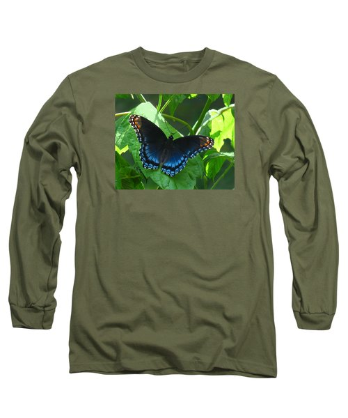 Red-spotted Admiral Butterfly Long Sleeve T-Shirt by William Tanneberger