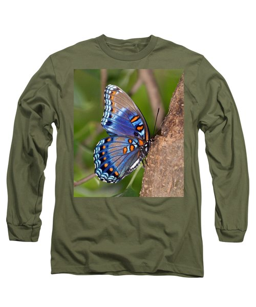 Red Spotted Purple Butterfly Long Sleeve T-Shirt