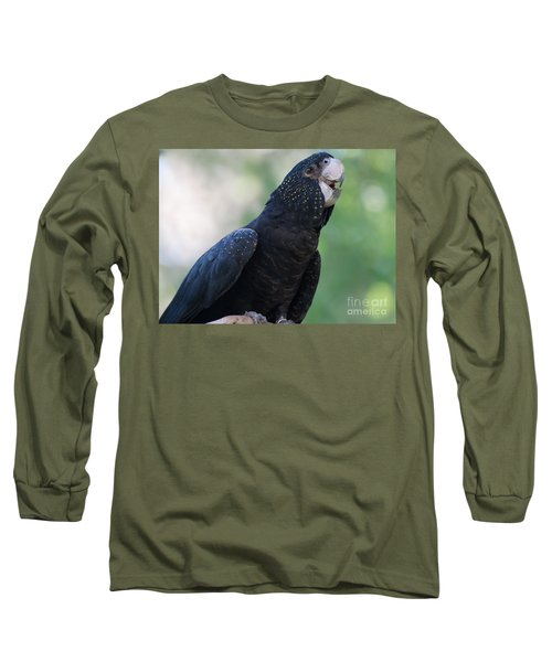 Red-tailed Black Cockatoo Long Sleeve T-Shirt by Bianca Nadeau