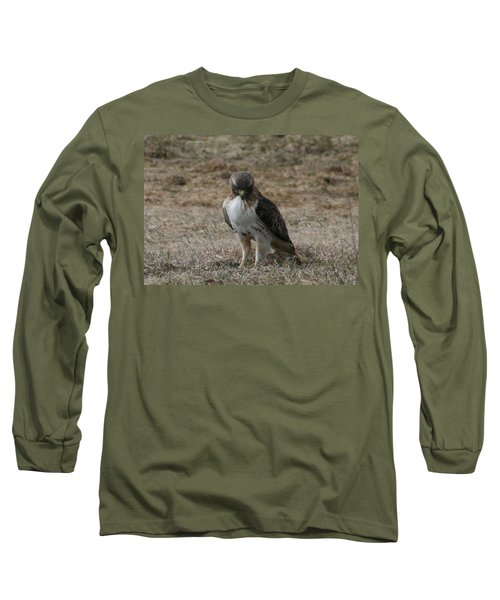 Red Tailed Hawk Long Sleeve T-Shirt by Neal Eslinger