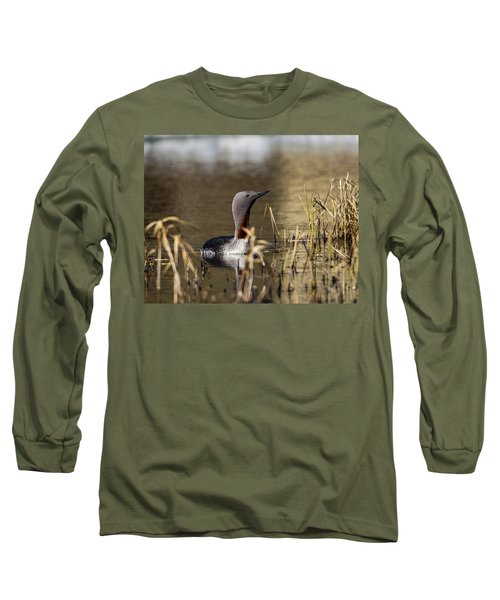 Redthroated Loon Long Sleeve T-Shirt
