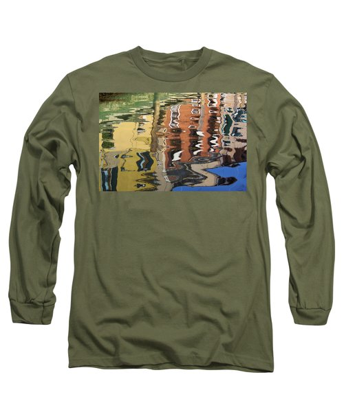 Reflection In A Venician Canal Long Sleeve T-Shirt